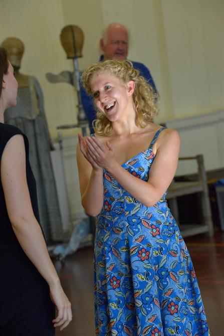 Leigh Quinn in rehearsal for Henry V