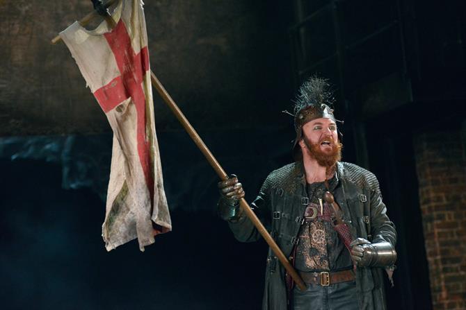 Antony Byrne as Pistol in Henry V.