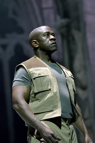 Lucian Msamati as Iago in Othello 2015