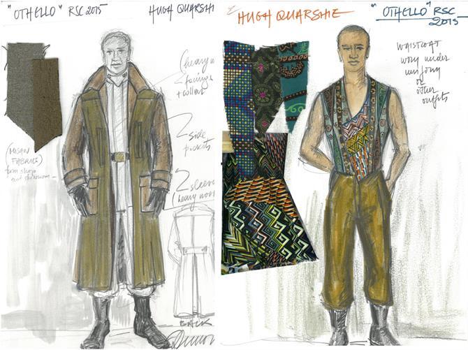 Fotini Dimou's costume designs for Hugh Quarshie in Othello 2015