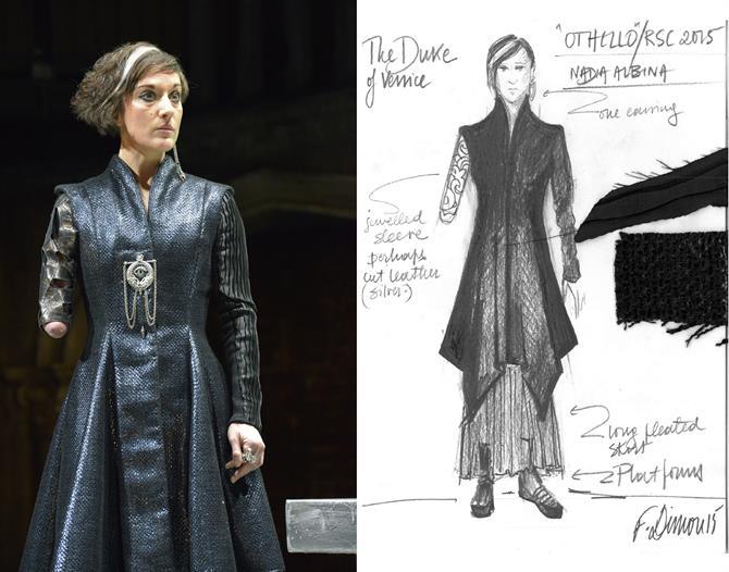 Fotini Dimou's costume design for Nadia Albina  as the Duke of Venice in Othello 2015