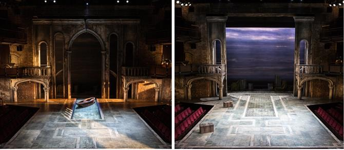 Ciaran Bagnall's sets of  Venice and Cyprus for Othello 2015