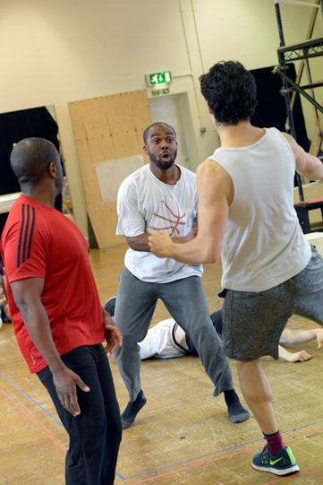 Ken Nwosu in rehearsal for Othello 2015