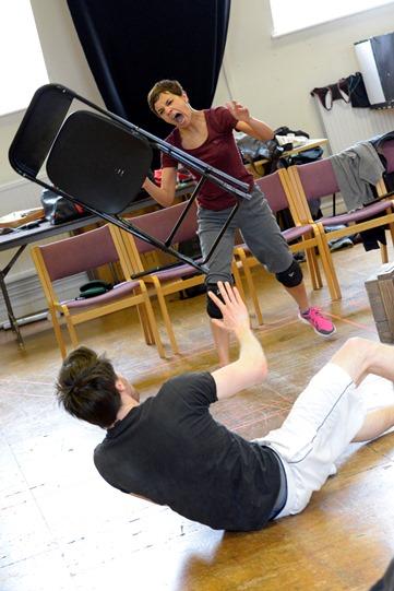 Rina Mahoney in rehearsal for Othello 2015