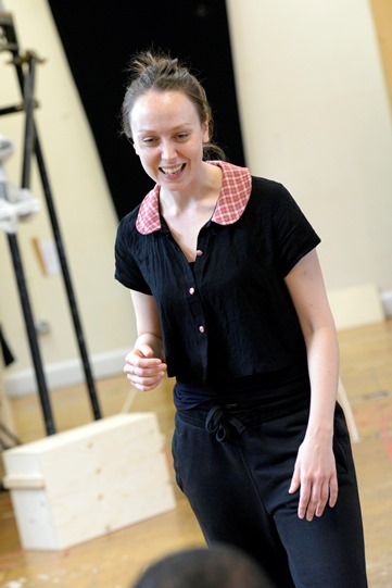 Scarlett Brookes in rehearsal for Othello 2015
