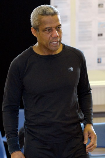 Hugh Quarshie in rehearsal for Othello 2015