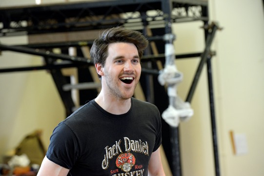 Guy Hughes in rehearsal for Othello 2015