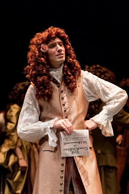 Jonathan Christie as Arthur Maynwaring in Queen Anne