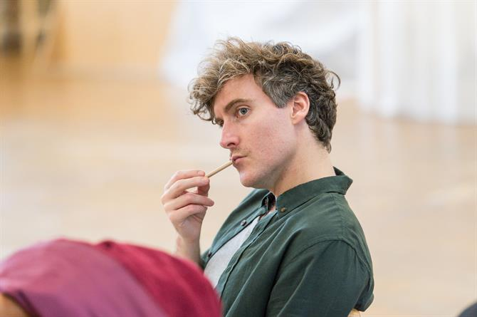 Tom Turner in rehearsal for Queen Anne.
