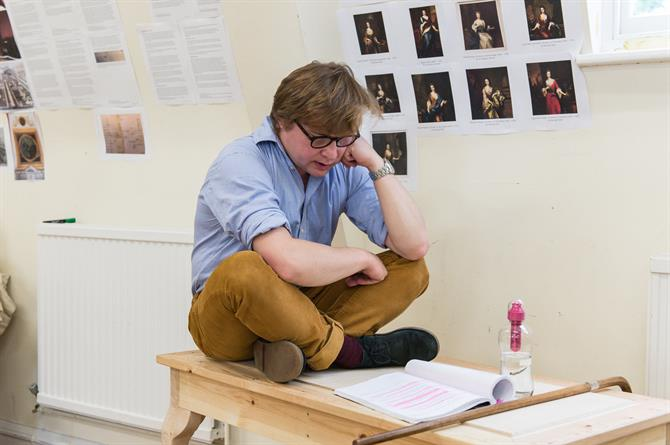 Jonathan Broadbent in rehearsal for Queen Anne.