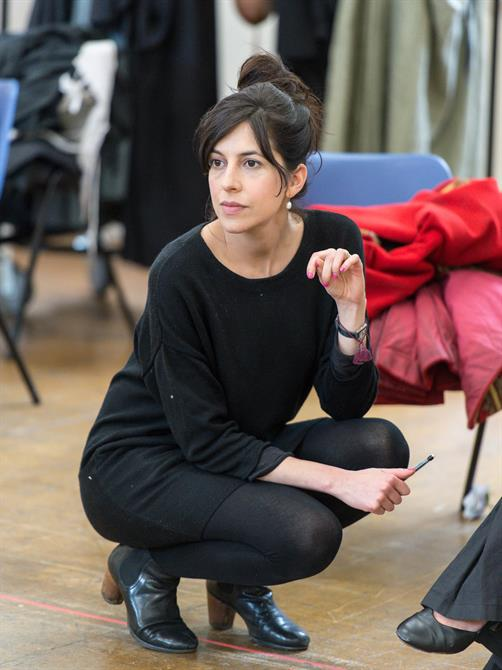 Director Natalie Abrahami in rehearsal for Queen Anne.