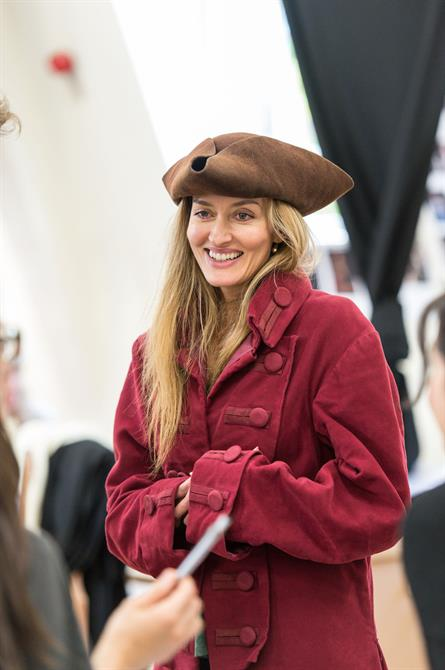Natascha McElhone in rehearsal for Queen Anne.