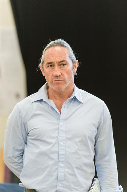 Robert Cavanah in rehearsal for Queen Anne.