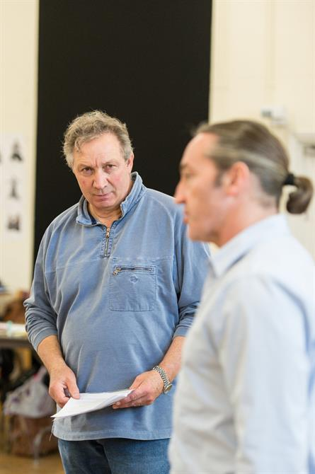 Richard Hope and Robert Cavanah in rehearsal for Queen Anne.