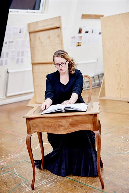 Emma Cunniffe in rehearsal for Queen Anne.
