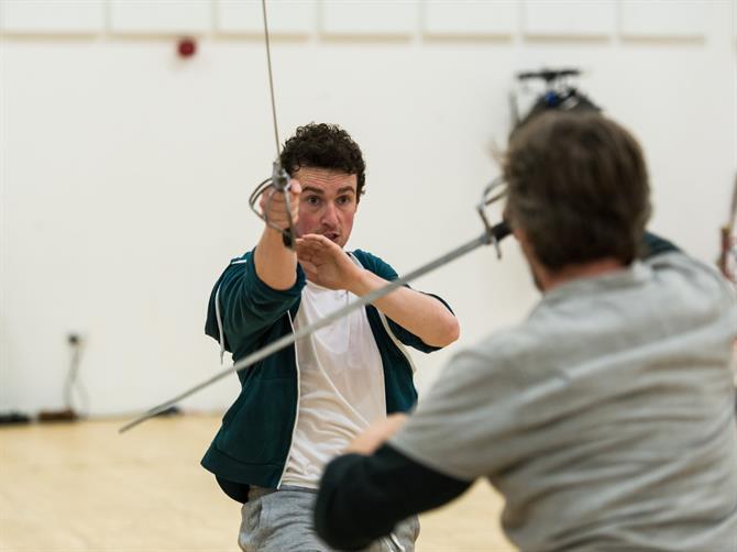 Cavan Clarke in rehearsal for Wendy & Peter Pan 2015