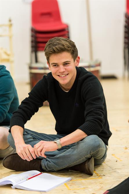 Sam Clemmett in rehearsal for Wendy & Peter Pan 2015