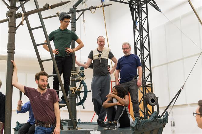 The company of Wendy & Peter Pan in rehearsal 2015