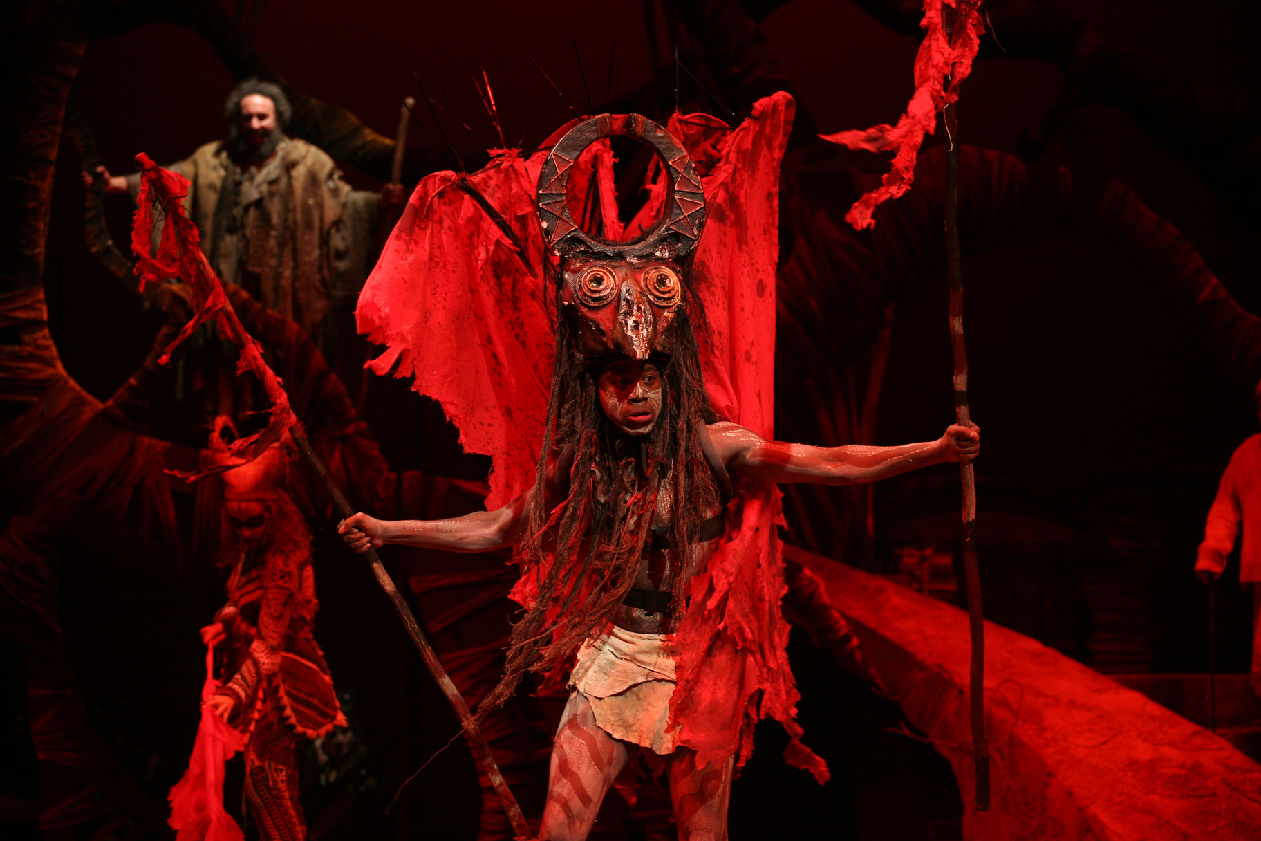 Stitch in time support our campaign royal shakespeare company atandwa kani as ariel in a devilish headdress from the tempest 2009 produced in association with the baxter theatre centre south africa biocorpaavc