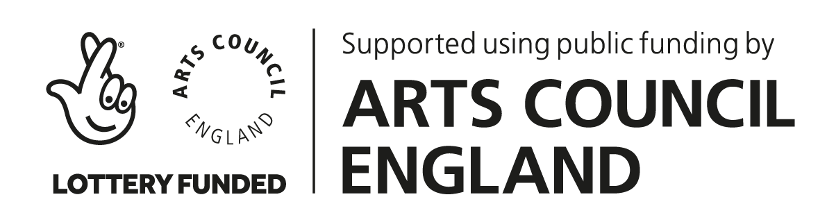 Arts Council England Lottery grant award logo