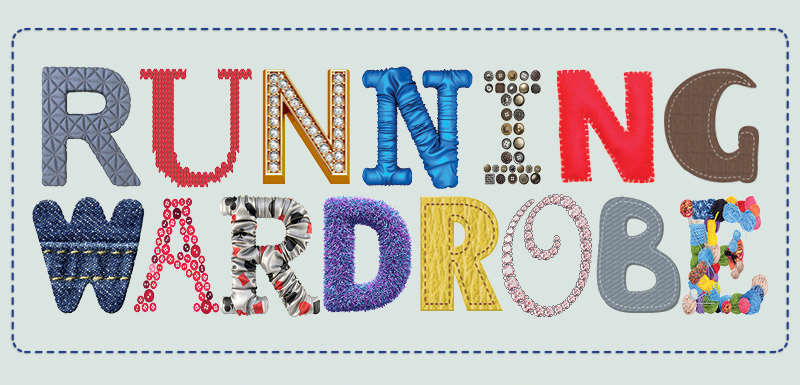 Running wardrobe banner with letters cut out in fabric